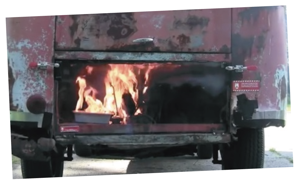 車両火災のイメージ